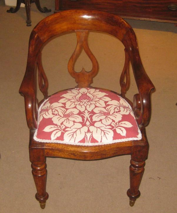 Viktorianischer antiker Mahagoni Stuhl britisch ca 1880