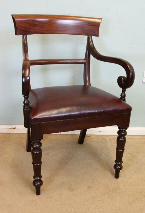 Antiker britischer Mahagoni Stuhl viktorianisch ca 1860