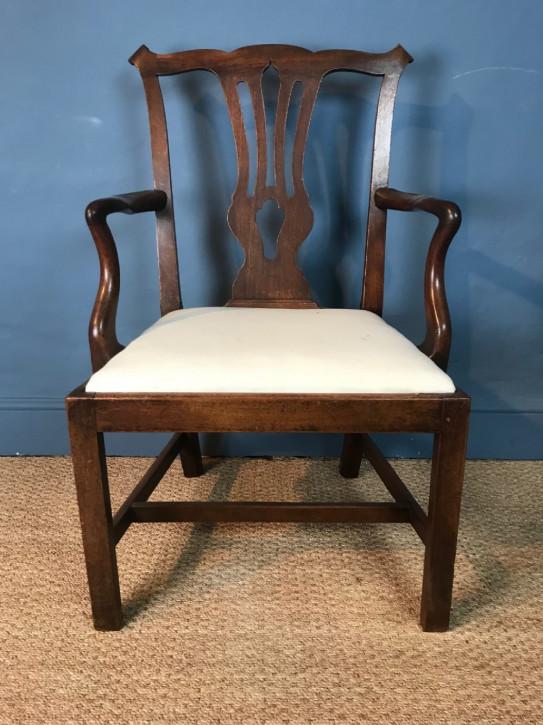 Antiker britischer Mahagoni Stuhl Chippendale ca 1770