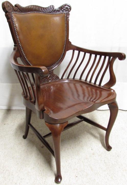 Viktorianischer britischer Mahagoni Stuhl original antik ca 1880