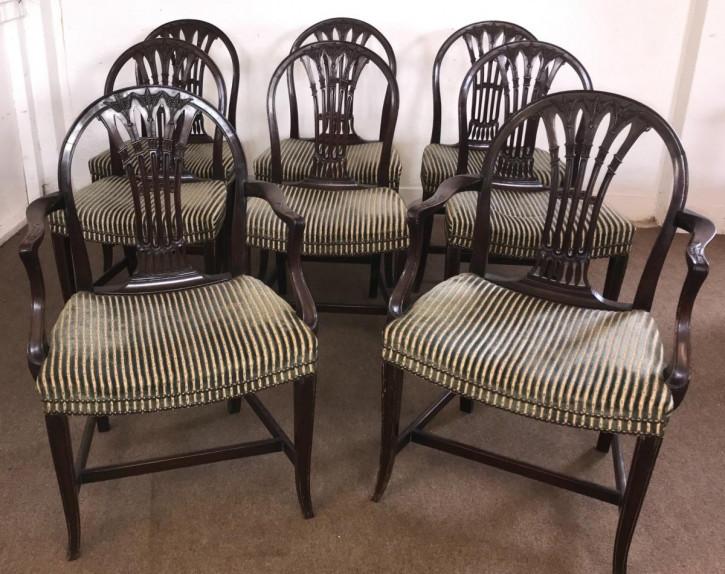 Georgianische antike Mahagoni Stühle britisch ca 18. Jh