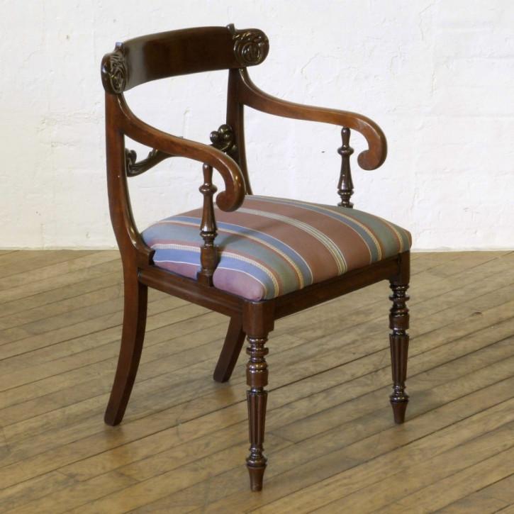 Antiker britischer Mahagoni Stuhl ca 1835