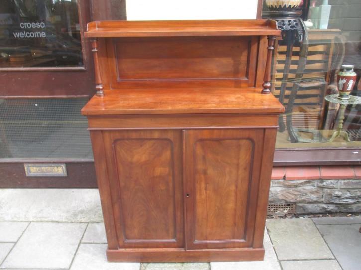 Viktorianisches britisches Mahagoni Sideboard antik ca 1850
