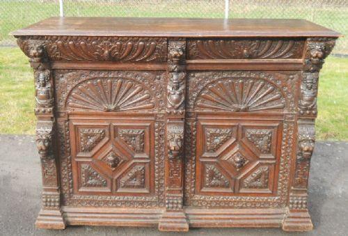 Viktorianisches Eichen Sideboard antik englisch ca 1850