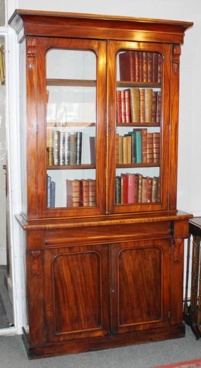 Viktorianischer antiker Mahagoni Bücherschrank britisch ca 1880