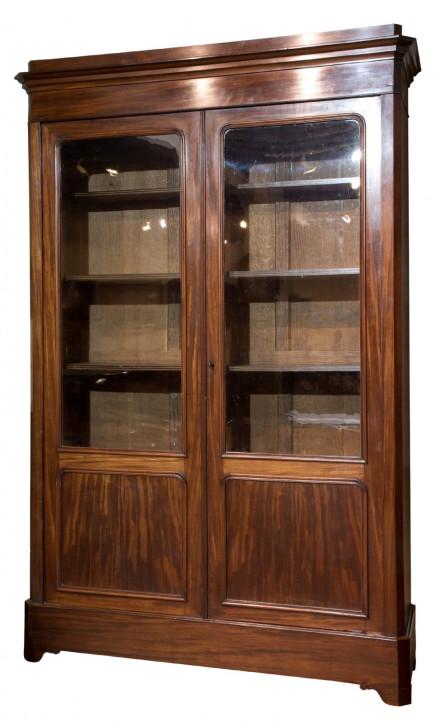 Französisches Mahagoni Bücherschrank antik ca 1880