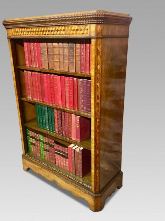 Antikes britisches Bücherregal Palisander ca 1880