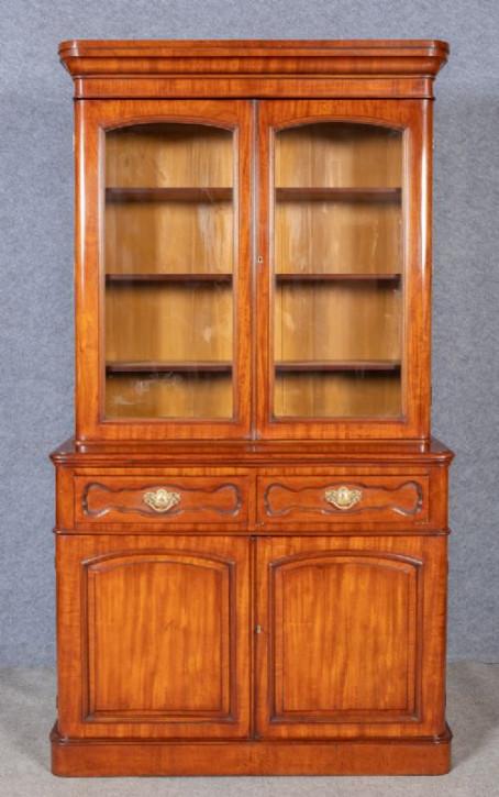 Antiker britischer Mahagoni Bücherschrank ca 1880