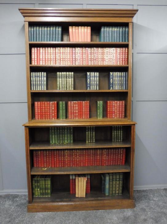 Antikes britisches Eichen Bücherregal viktorianisch ca 1900