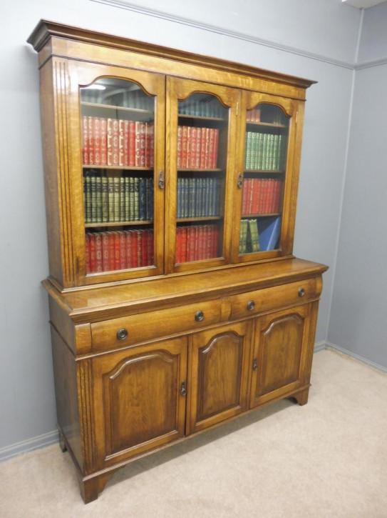 Edwardianischer antiker Eichen Bücherschrank britisch ca 1910