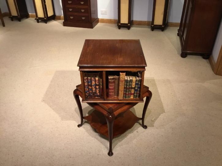 Edwardianischer antiker Mahagoni Bücherschrank britisch ca 1910