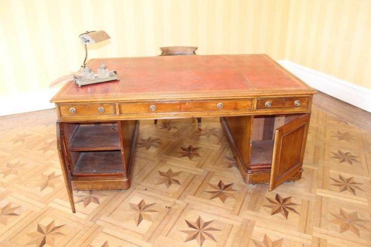 Antiker britischer Mahagoni Schreibtisch viktorianisch ca 1890