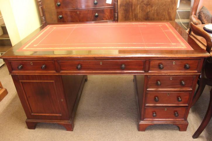 Viktorianischer Mahagoni Schreibtisch antik englisch ca 1850