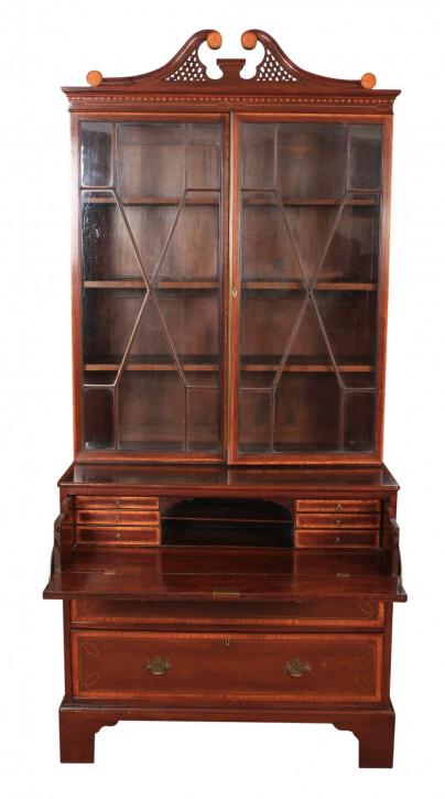 Georgianischer antiker Mahagoni Bureau Bookcase Aufsatzsekretär ca 1770