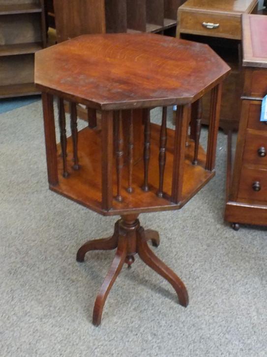Antikes britisches Revolving Bookcase Bücherschrank Eiche ca 1850