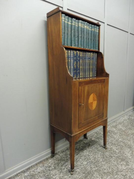 Edwardianisches antikes Bücherregal britisch ca 1890