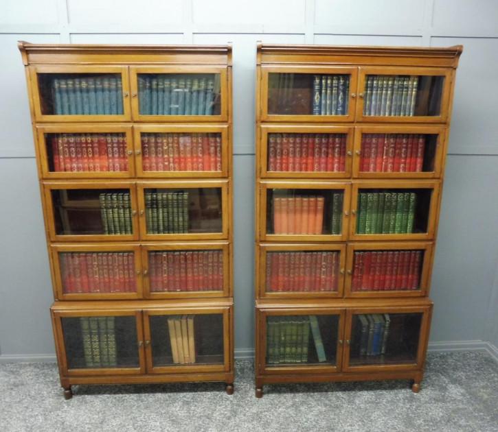 Antike britische Mahagoni Bücherregale edwardianisch ca 1890