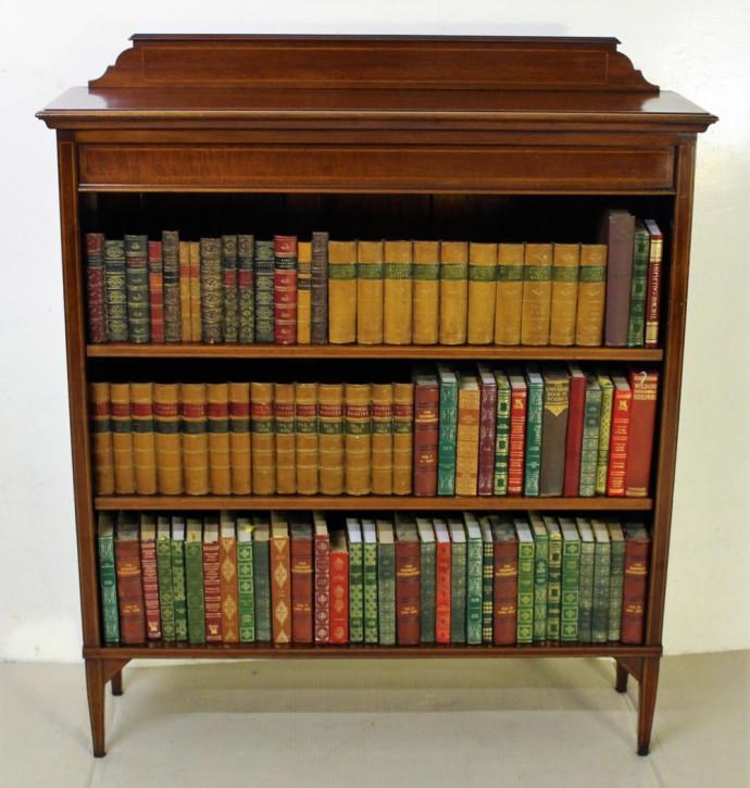 Edwardianischer antiker Mahagoni Bücherschrank britisch ca 1900