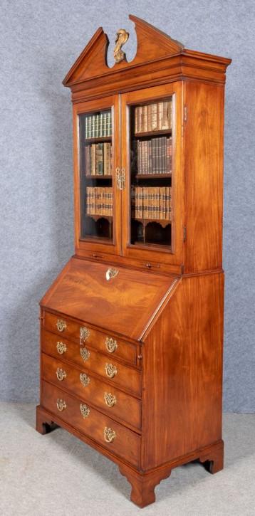 Georgianisches antikes Mahagoni Bureau Bookcase englisch ca 18. Jh