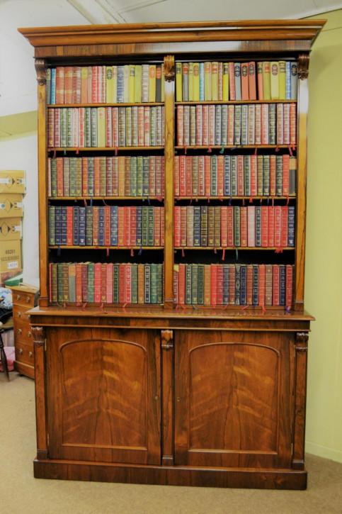 Viktorianischer britischer Palisander Bücherschrank antik ca 1870