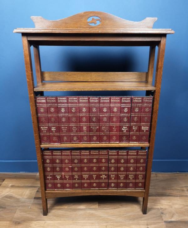 Antiker Arts & Crafts Bücherschrank Eiche englisch ca 1900