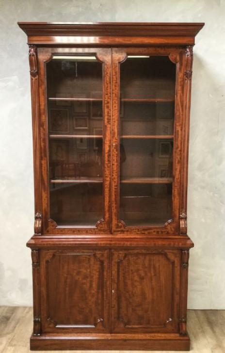 Antiker viktorianischer Mahagoni Bücherschrank britisch ca 1850