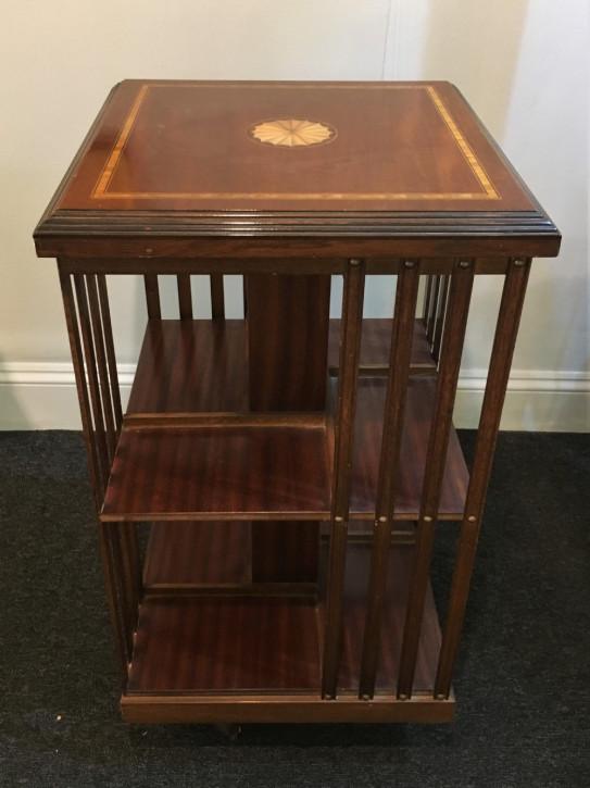 Antikes britisches Mahagoni Revolving Bookcase ca 1910