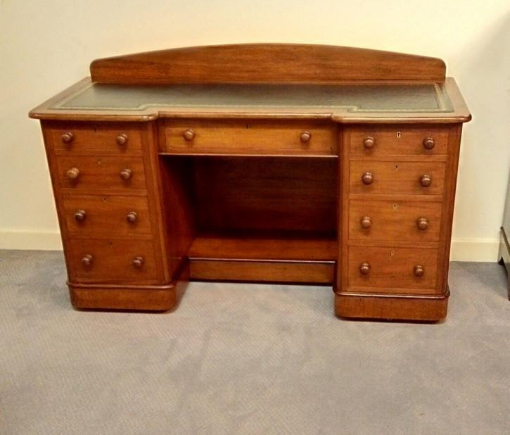 Antiker Mahagoni Schreibtisch britisch ca 1880
