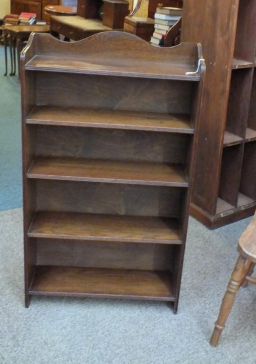 Englisches Antikes Eichen Bücherregal offen ca. 1920