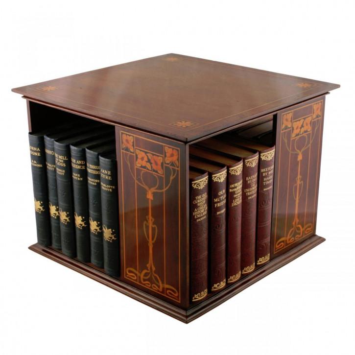 Antikes britisches Mahagoni Revolving Bookcase Drehbücherregal ca 1890