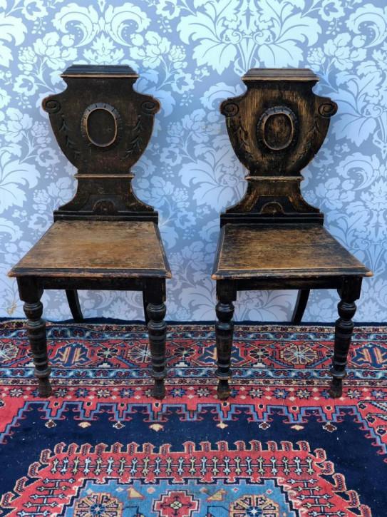 Antike viktorianische Eichen Stühle Esszimmerstühle englisch ca 1890