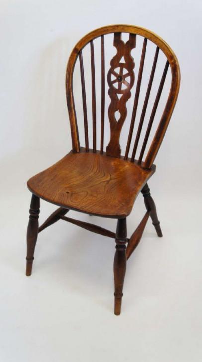 Georgianischer antiker Eichen Ulmen Stuhl britisch ca 18. Jh
