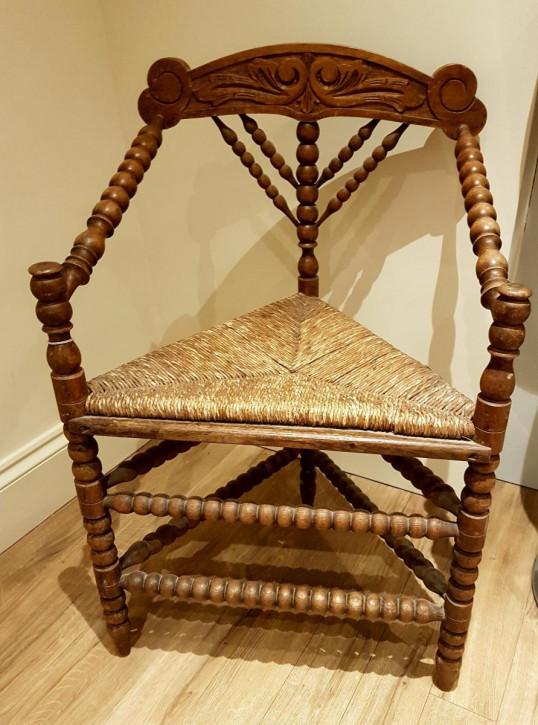 Antiker britischer Ulmen Stuhl ca 1860