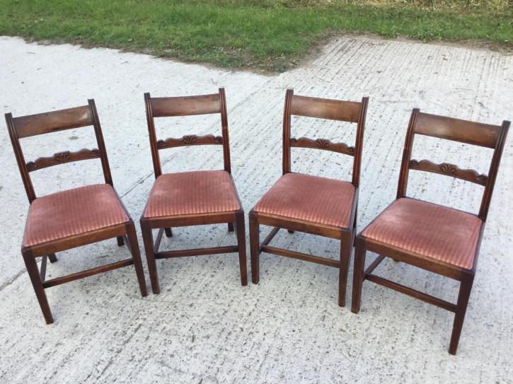 Antike britische Mahagoni Stühle Esszimmerstühle ca 19. Jh