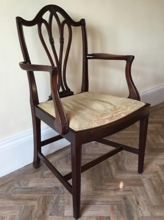Antiker britischer Mahagoni Stuhl Küchenstuhl edwardianisch ca 1890