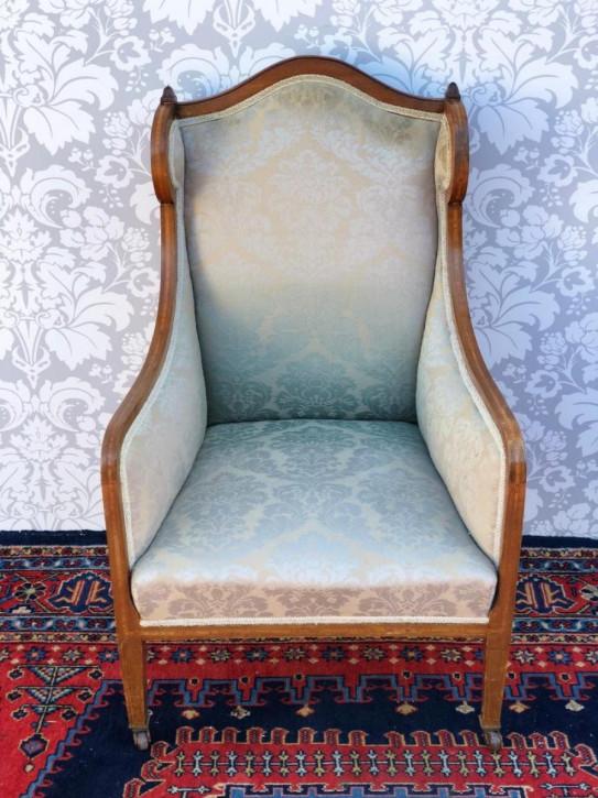 Viktorianischer Antiker Englischer gepolsterter Ladys Chair ca. 1860