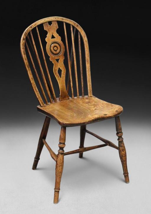 Georgianischer Englischer Antiker Eichen Windsor Stuhl ca. 1790