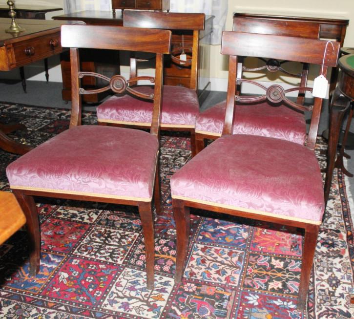 Antiker Englischer Satz Mahagoni Stühle ca. 19. Jh.