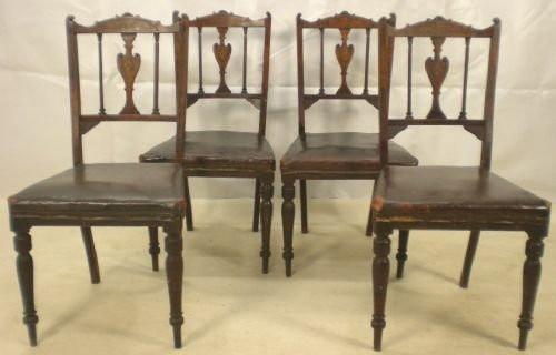 Edwardianische antike Mahagoni Stühle englisch ca 1900