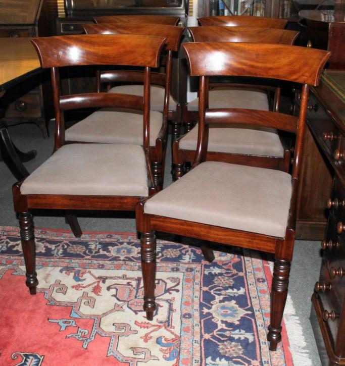 Antike britische Regency Stühle Mahagoni Küchenstühle ca 1810