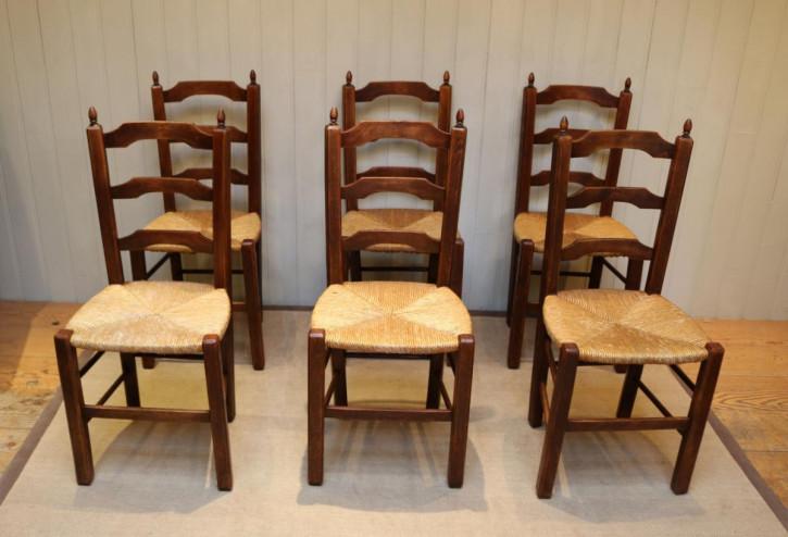 Antike französische Buche Stühle ca 1900