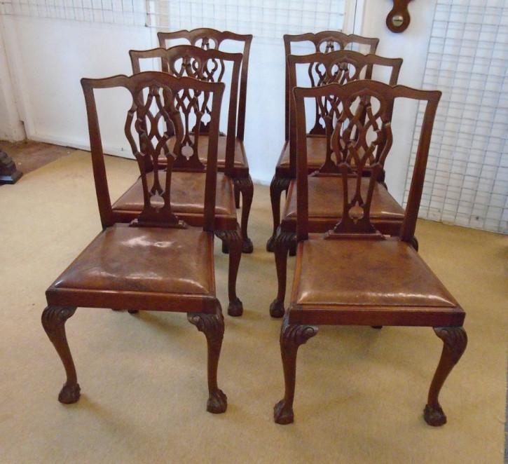 Edwardianische antike Mahagoni Stühle britisch ca 1890
