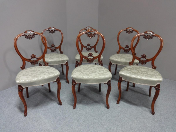 Viktorianische antike Nussbaum Stühle britisch ca 1880