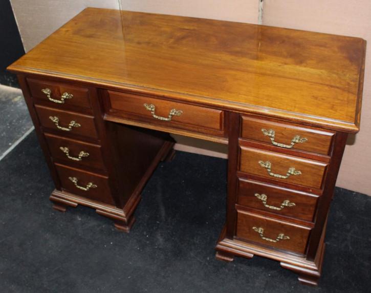 Edwardianischer antiker Schreibtisch Nussbaum britisch ca 1890
