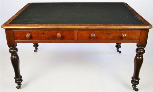 William IV. Antiker Englischer Mahagoni Partner Schreibtisch ca. 1800