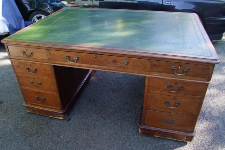 Antiker Mahagoni Schreibtisch Partners Desk britisch ca 19. JH