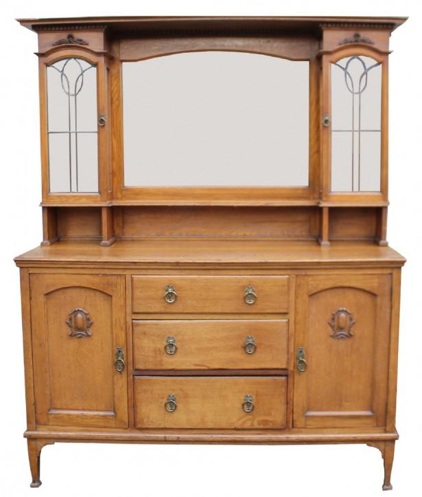 Antikes Arts & Crafts Sideboard Eiche englisch ca 1890