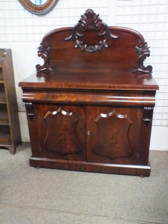Viktorianisches antikes Mahagoni Sideboard britisch ca 1860