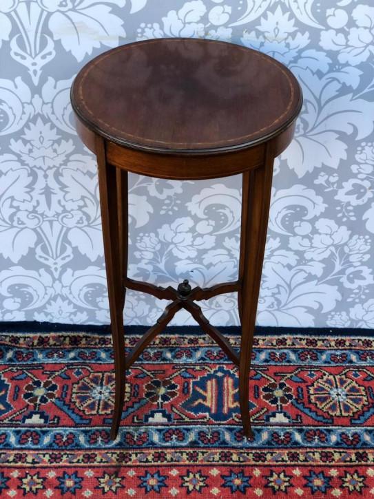 Edwardianischer antiker Mahagoni Beistelltisch britisch ca 1890