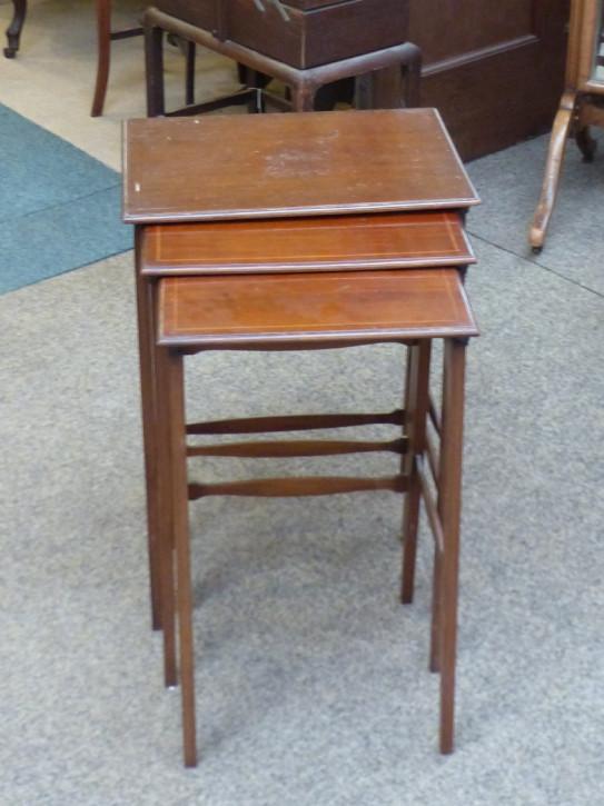 Edwardianisches antikes Mahagoni Nest of Tables Beistelltische englisch ca 1890